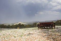 Сеялка в paddock Стоковые Фото