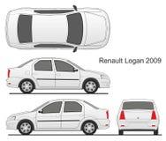 Седан 2009 Renault Logan Стоковая Фотография RF