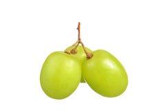 Селективный фокус виноградин зеленого цвета пука изолированных на белизне Стоковое Изображение RF