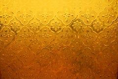 Селективный фокус витража золота Стоковые Изображения RF