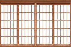 Седзи, традиционная японская дверь, окно Стоковое Изображение RF
