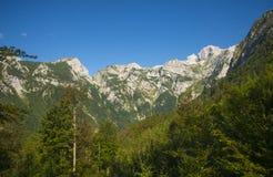 Седловина Kamnik, горные вершины Kamnik Savinja, Словения Стоковая Фотография