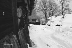 Село в зиме Стоковое Изображение
