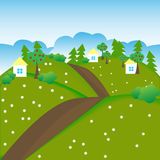 село лета питаний цыпленка мальчика в стиле фанк Стоковое Изображение