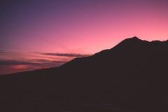 село захода солнца горы alps Стоковая Фотография
