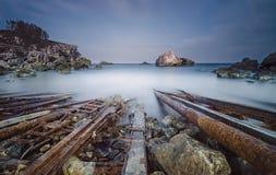 село Испании рыболовства Астурии cudillero стоковая фотография