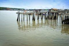 село Испании рыболовства Астурии cudillero Стоковое Фото