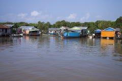 село Камбоджи плавая Стоковая Фотография