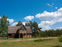село Польши дома старое Стоковая Фотография