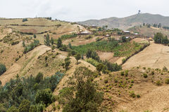 Село на холмах Стоковые Фото