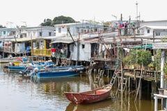 село Hong Kong o tai рыболовства стоковое фото
