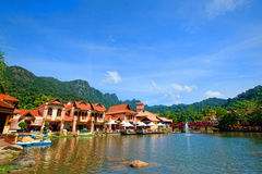 Село Langkawi Oriental Стоковые Изображения RF