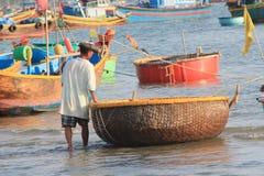 село ne mui рыболовства Стоковая Фотография RF