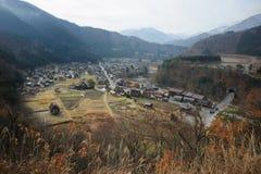 Село Ogimachi в Shirakawago Стоковое Изображение