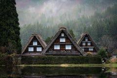 село shirakawago японии Стоковое фото RF