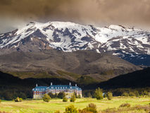 Село Whakapapa в Tongariro NP Новой Зеландии Стоковые Фото