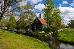 Село Zaanse Schans стоковые изображения rf