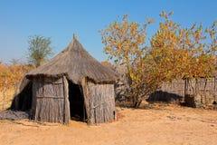 Сельская африканская хата Стоковая Фотография
