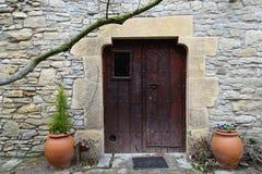Сельская входная дверь дома Стоковые Изображения RF