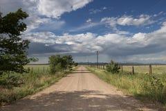 Сельская грязная улица Неш-Мексико Стоковое фото RF