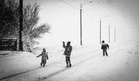 Сельская зима Стоковые Фотографии RF