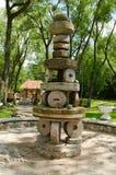 Сельская диаграмма ретро жорнова декора парка год сбора винограда Стоковые Фото