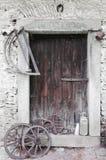 Сельская историческая дверь Стоковые Изображения