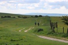 Сельская местность Англия ходоков стоковая фотография rf