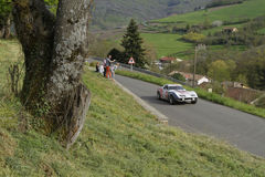 Сельская местность и гоночный автомобиль Стоковое Изображение RF