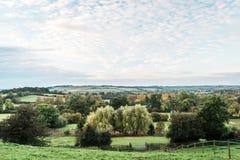 Сельская местность и поля Англии Стоковое фото RF