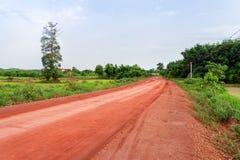Сельская местность Лаос дороги стоковое фото
