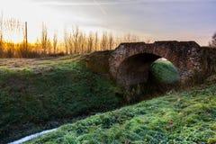 Сельская местность на восходе солнца Стоковые Изображения RF