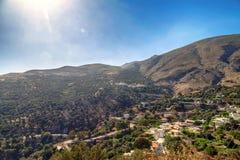 Сельская местность на острове Creta, Греции стоковые фотографии rf
