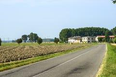 Сельская местность около Павии стоковая фотография rf