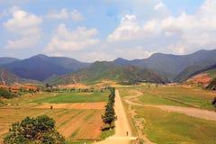 Сельская местность, Северная Корея стоковые фотографии rf