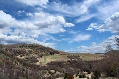 Сельская местность с облаками Стоковая Фотография RF