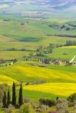 Сельская местность Тосканы около Pienza, Италии Стоковое Изображение RF