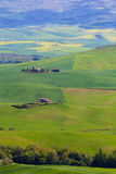 Сельская местность Тосканы около Pienza, Италии Стоковое Изображение