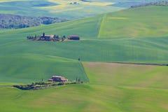 Сельская местность Тосканы около Pienza, Италии Стоковые Изображения RF