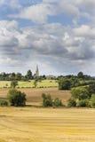 Сельская местность Cotswold, Gloucestershire, Великобритания Стоковая Фотография RF