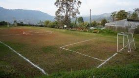 Сельская местность fild футбола на горе Стоковое фото RF
