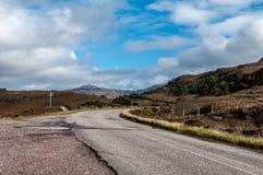 Сельская дорога в Шотландии Стоковое фото RF
