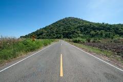 Сельская дорога до конца Стоковое Фото