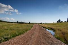Сельская дорога сельской местности Стоковая Фотография