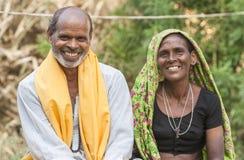 Сельская семья Стоковая Фотография