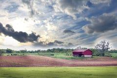 Сельская ферма Мэриленда весной Стоковая Фотография