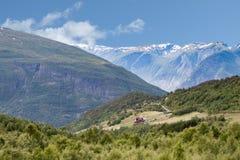 Сельские дома в горах Стоковое Изображение RF