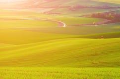 Сельский ландшафт весны Стоковая Фотография