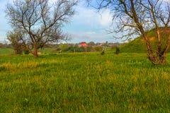 Сельский ландшафт в апреле Стоковые Изображения RF