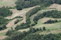 Сельский ландшафт в итальянских appenines Стоковое фото RF